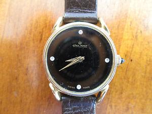 vintage lady winding watch, by j paul monet,swiss , black dial,,,,attract