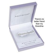 Equilibrium Silver Plated No Better Friend  Grandma Bangle Bracelet 7021