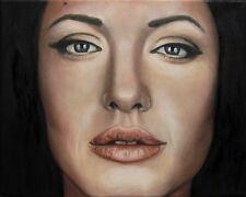 Jannys ART - Angelina - Kunst Malerei Portrait handgemalt Öl Gemälde Bild