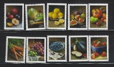 US Sc# 5484-5493 FRUITS AND VEGETABLES SET of 10 USED OFF PAPER SOUND