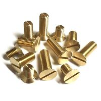 "5/16"" BSF Slotted Countersunk Machine Screws - Brass British Manufactured CSK"
