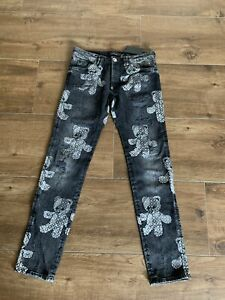 Neu Philipp Plein Jeans Gr 32 Super Straight Cut Teddy  Hose Neu