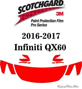 3M Scotchgard Paint Protection Film Pro Series Fits 2016 2017 Infiniti QX60