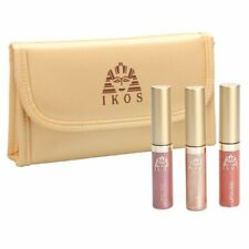 IKOS - Lip Gloss Set - 3 Pastellfarben + Kosmetiktasche