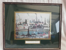 L.S Lowry Print - Industrial Landscape: The Canal - In Frame