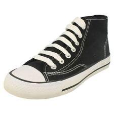 Scarpe di tela nera con lacci per bambine dai 2 ai 16 anni