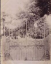 Grille de Puteaux Fer forgé France Vintage Albumine ca 1880