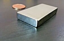 "One(1) Neodymium N52 Block Magnet. Super Strong Rare Earth 2"" x 1"""