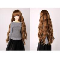 25cm DIY Curly Hair Wigs for 1/3 1/4 1/6 BJD Blythe Doll Accessory Coffee