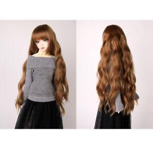 New long curls Wavy hair Wig For 1//3 1//4 1//6 BJD Doll