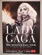 Lady Gaga - The Monster Ball Tour PRINT AD - 2011 ~~ HBO