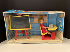 Vintage  Topper Toys PENNY BRITE School Room W/original Open Box & Doll