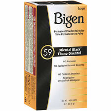 [HOYU BIGEN] PERMANENT POWDER HAIR COLOR DYE #59 ORIENTAL BLACK .21OZ