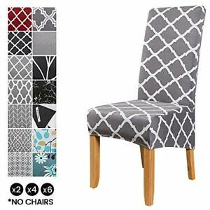 XL Size Chair Covers for Dining Chairs,6Pcs Stretch Elastic Chair Protector Seat