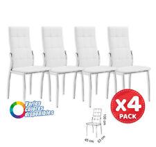 Silla de comedor - salon estructura metálica tapizado polipiel - pack 4 -colores