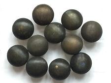 Lot de 11 minuscules boutons vintage - Métal strié 9 mm