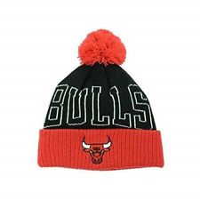 CHICAGO BULLS - ADIDAS NBA - Boy's Pom Cuffed Knit Beanie Hat AGE 8-12