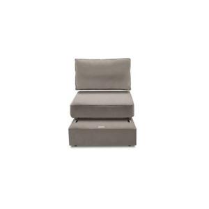 Sactional Seat Cover Set - Base, Cushion, & Pillow - Taupe Padded Velvet