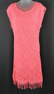 Lilly Pulitzer Women's NWT Bright Pink Sleeveless Knit Adabelle Sweater Dress L