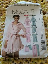 McCall's M5534 Misses Robe Top Nightgown Shorts Pants Night House 12 -18 Sew Pat