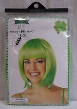 St. Patricks Day Adult One Size Green Wig