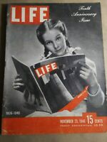 Vintage LIFE Magazine 10th Anniversary Issue November 25th 1936-1946