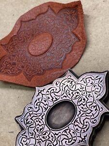RARE! Bookbinding Bronze Arabesque Bookbinder stamp tool leather gilding SPAIN!