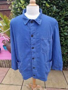 Vintage Sanfor Workwear Chore Jacket Blue 58
