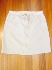 Linen Machine Washable Solid Regular Size Skirts for Women