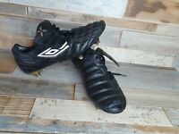 UMBRO SONICA 11-A SG Soft Ground Black Gold Football Boots Size UK 10