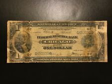 1918 $1 One Dollar STAR Note Federal Reserve Bank Note Large Size FR.729* Fine