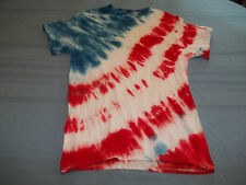 Red White & Blue Tye Dyed stripes T-Shirt Size M die flag patriotic