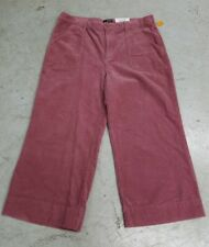 Ana Womens Corduroy Wide Leg Crop Pants Pink Rose Pose Size 2 New with tag NWT