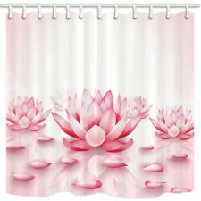 SPA Pink Lotus Flower Bathroom Shower Curtain Waterproof Fabric 71*71 inches New