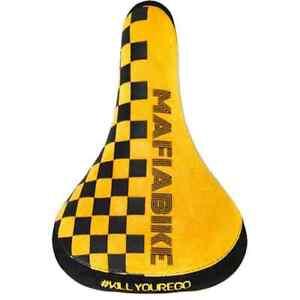 Mafiabike Kill Your Ego BMX Seat - Yellow Checker