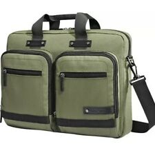 SAMSONITE MADAGASCAR 15 Olive Laptop Slim Briefcase Canvas Green Bag Commuter