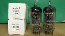 Matched Pair of Mullard 12AX7 ECC83 mC1 1957 Vacuum Tubes