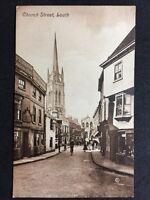 RP Vintage Postcard - Lincolnshire #B18 - Church Street, Louth - Valentines