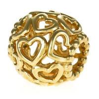 Genuine PANDORA Open Your Heart Charm 14K Gold Vermeil 790964