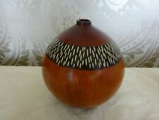 Modern Pottery Ceramic Bulb Faux Wood Style Bud Vase 15cm Tall