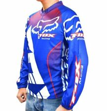 Fox Cycling Long Sleeve Men's Sportswear (Blue/Red/White) LARGE