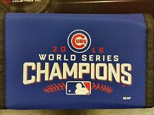MLB Chicago Cubs Nylon Tri-Fold Wallet, 2016 World Series Champions, NEW
