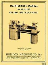 Sheldon-Sebastian 13″ Metal Lathe Model A-5 Oiling, Wiring, & Parts Manual 1146