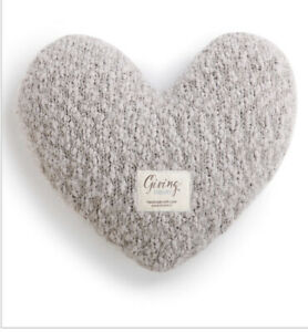 The Giving Heart Pillow - Demdaco - New - Grey