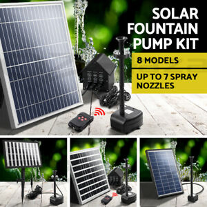 Solar Pond Pump Water Pool Pumps Kit Fountain Submersible Filter 8 Models