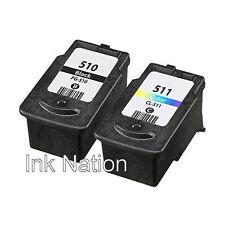 1x PG-510 Black & CL-511 Colour Ink Cartridge For Canon PIXMA MP272 Inkjet