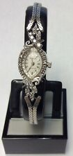 Stunning Ladies 14k White Gold Geneve Diamond (.12TCW) Quartz Wrist Watch