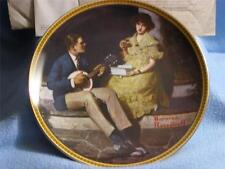 Pondering On The Porch Bradford Collectable Norman Rockwell Plate