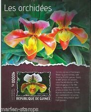 GUINEA  2014 ORCHIDS  SOUVENIR SHEET MINT NH