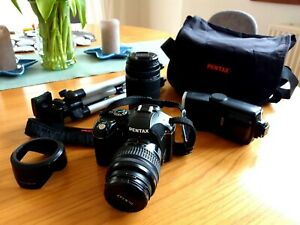 Pentax K-x Camera With Accessories